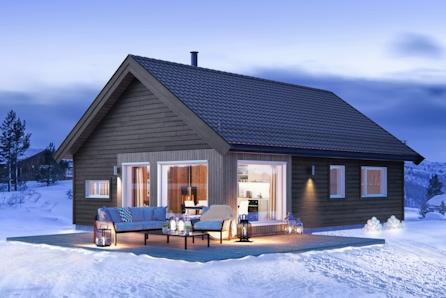 TOMTEVISNING SØND. 11.04 KL 14-15 Koselig og praktisk hytte med 3 soverom i et fantastisk tureldorado 1,5 t. fra Oslo