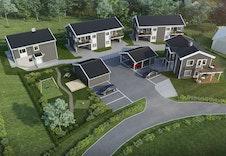VELKOMMEN TIL SKOGENÅSEN! 3D-illustrasjon Skogenåsen
