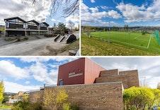 Fin beliggenhet med nærhet til skoler, barnehager, idretts- og lekeplasser