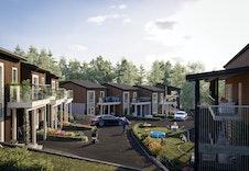 Prosjektet Sveakollen vil totalt bestå av 18 boenheter av varierende størrelse og utforming.