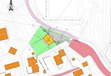 Prosjektert plassering av boligen