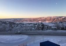 Fantastisk utsikt fra leiligheten!