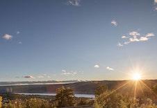 Flott utsikt og lang solgang! (Foto: Joakim Mangen)