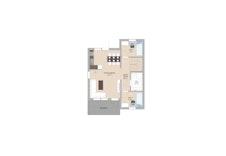 Plantegning hus 2, leilighet 1 hovedplan