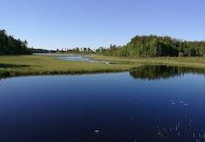 Gjetholmsjøen med gode padlemuligheter oppover i elva