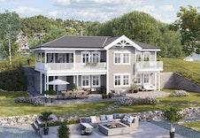 Huset Midtgaard kan passe på tomten. Be om tilbud på denne husmodellen!