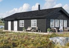 RO2 uten hems - dette er kun er illustrasjon av tenkt hytte på tomten. Illustrasjonen vil vike fra virkeligheten og gjengir ikke korrekt tomt og beliggenhet