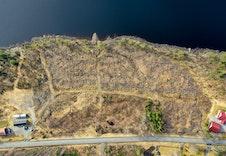 Dronefoto av hytteområdet