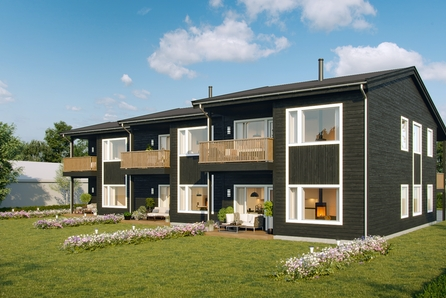 Skotterud sentrum - Nye selveier- leiligheter i 6-mannsbolig med garasje - Ingen fellesgjeld -  3 SOLGT og 1 reservert!