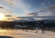 Utsikt fra tomten i Gruvskrabben, Rondeblikk bolig- og fritidsområde.