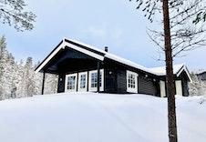 Bilde av tilsvarende hytte på en annen tomt.