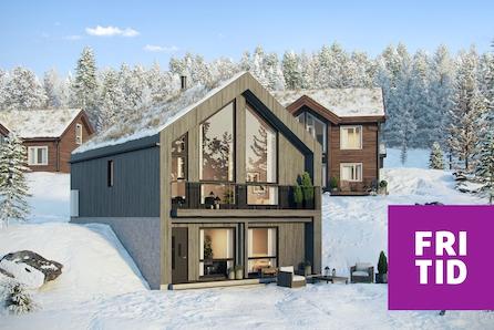 Nestingsætra-HAFJELL. Spennende V-hytte med 3 sov, 2 bad. Tomt, grav-og betong inkl. Solrik utsiktstomt -ski in/out!