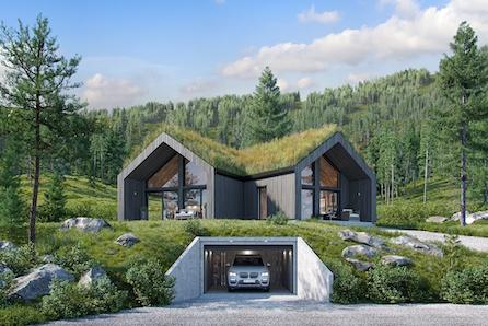 UNIK hytte på solrik utsiktstomt i HAFJELL!  Skreddersys for kunde i dialog med vår arkitekt. Tomt, grav, betong inkl.
