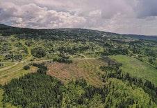 Tomteområdet fra vest Foto:Joakim Mangen