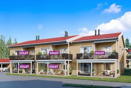 """Nye leiligheter på GRANRUDTUNET, ØYER. 4 SOLGT. Solrik beliggenhet med nærhet til """"alt""""! Lettstelte boliger på ett plan!"""