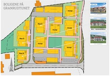 Situasjonsplanen viser plassering av Hus G.