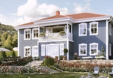 Landheim kan være en bolig som passer inn på tomten.
