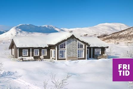 HAFJELL - Storslått familiehytte på solrik utsiktstomt. Ski in/out , 3 stuer, 5 sov, 2 bad, tomt, grav/betong inkl.