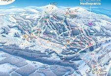 Kart Hafjell alpin med Nestingsætra markert
