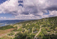 Fra tomteområdet mot nordvest Foto:Joakim Mangen