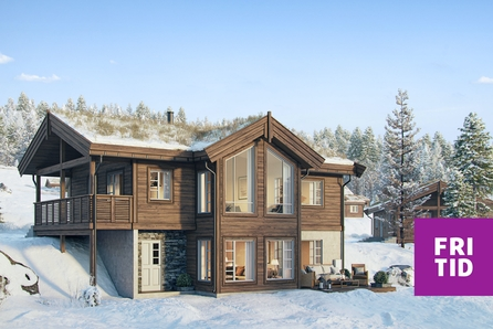 Nestingsætra-HAFJELL. Ny hyttemodell-Blåhø med 3 sov, 2 bad. Tomt, grav-og betong inkl. Solrik utsiktstomt -ski in/out!
