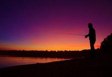 Fisking en sen sommerkveld