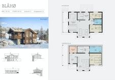 Blåhø illustrasjon, plan og fasader