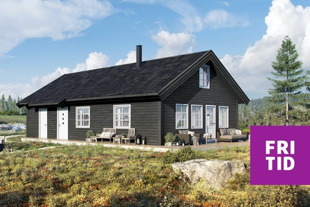 SKEIKAMPEN - Den nye hytteserien RO 2 (86m2) med  hems og mange soveplasser. Nær skiløypa og gode utleiemuligheter
