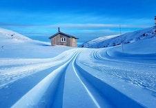 Nydelige skispor laget av løypekjørererne