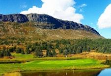 Golfbane med flott utsikt