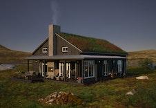Eksteriørillustrasjon av hytta Nue