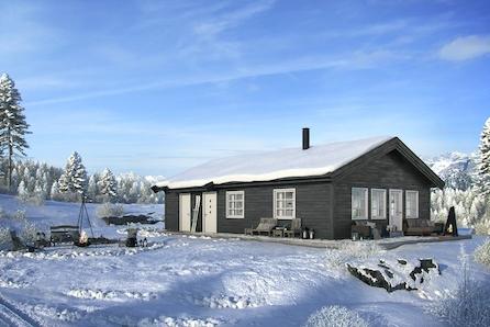 SKEIKAMPEN - Slåseterlia Fjellgrend. Nøkkelferdig og rimelig hytte med 3 soverom. Solrik tomt rett ved skiløypa!
