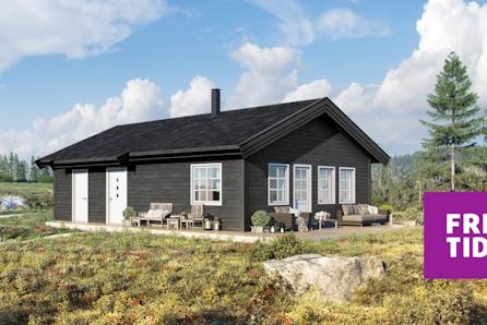 SKEIKAMPEN - Slåseterlia Fjellgrend. Ro, den populære hytteserien fra Boligpartner. Nær skiløypa og gode solforhold.