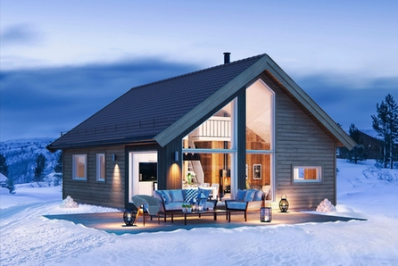 Sportshytte for hele familien med 84 m2 gulvareal med selveiertomt på Viksyndin!