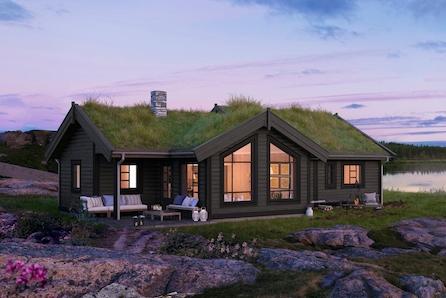 Midt mellom Oslo og Bergen i vakre Vang, 900 moh. Tomt og grunnarbeidet er inkludert.