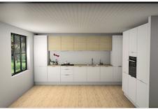 Kjøkken fra HTH med hvitevarer