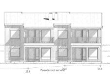 Fasade 1. Vi leverer glassrekkerk på balkong.