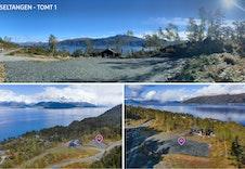 Tomt 1 har en nydelig utsikt, er planert og kort vei til gjesteparkering.