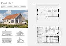 Kvarstad- Plantegning og fasader