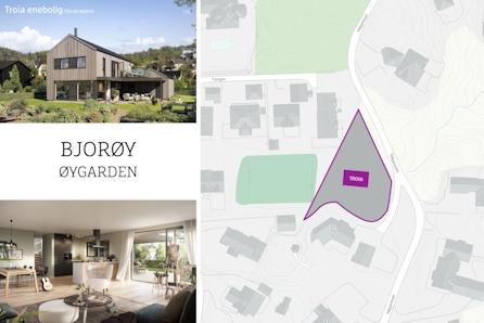 BJORØY- Moderne hus med stor overbygd uteplass og integrert garasje