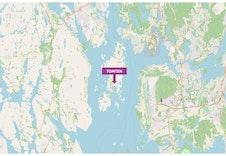 Tomt markert i kartet