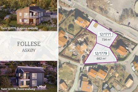 FOLLESE- 2 solrike sentrale tomter i etablert boligfelt