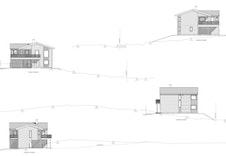 Fasadetegninger for hus F. Illustrasjon.