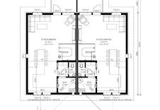 Byggesøknadstegninger - planløsning 2.etg