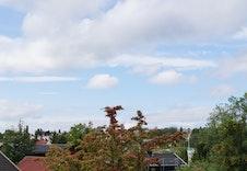 En flott utsikt fra balkongen i 2.etg.