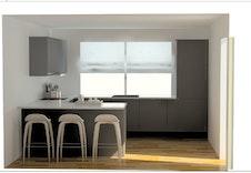 Sigdal leverer dette oppgraderte kjøkkenet. Bildene er illustrasjoner som vil kunne avvike fra virkelig miljø og omgivelser.