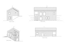 Fasadetegninger av eneboligen Moderne Spesial