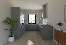Kjøkken Bildet er en illustrasjon som vil avvike fra virkelig miljø og omgivelser.