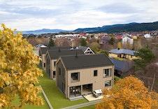 Velkommen til Stokkbekken 13. Illustrasjon av boligene.