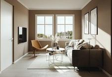 Stue i 2.etg. Bildet er en illustrasjon og vil avvike fra virkelig miljø og omgivelser.